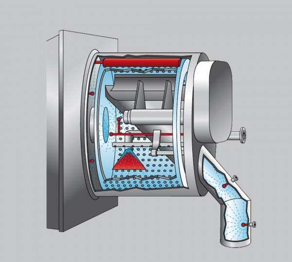 technische illustration für die vertikale zentrifuge