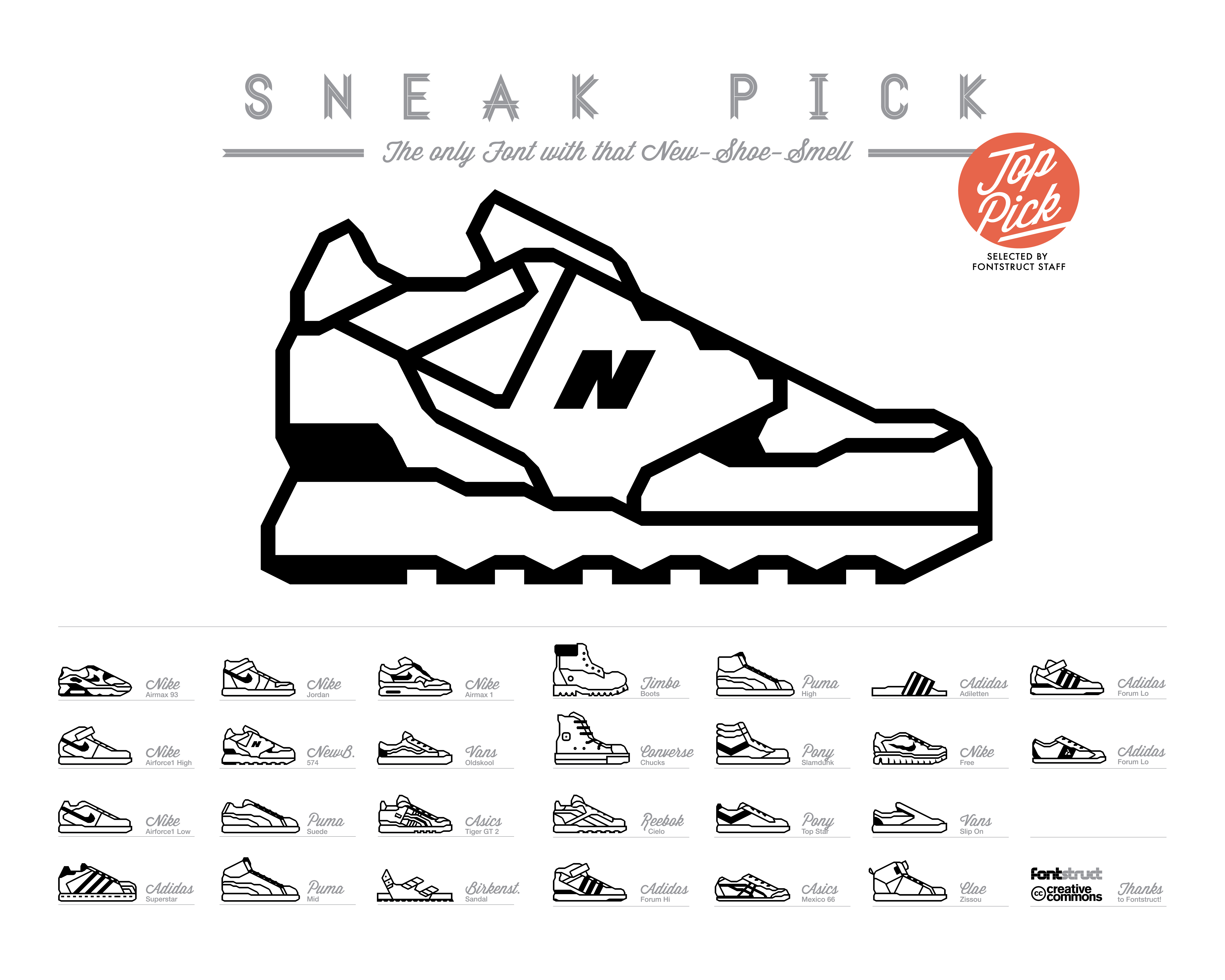 font icons sneaker