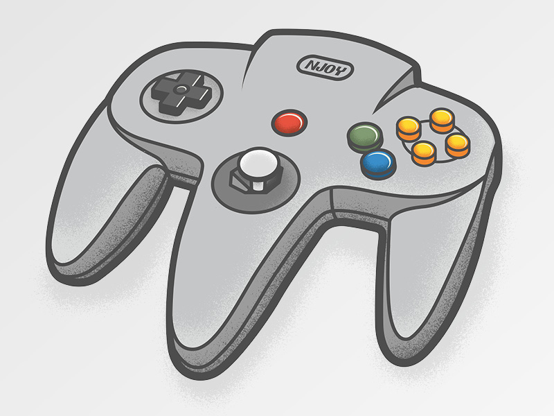 nintendo64 controller illustration