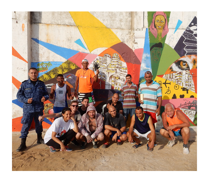 workshop, prison, barranquilla, graffiti, mural, streetart