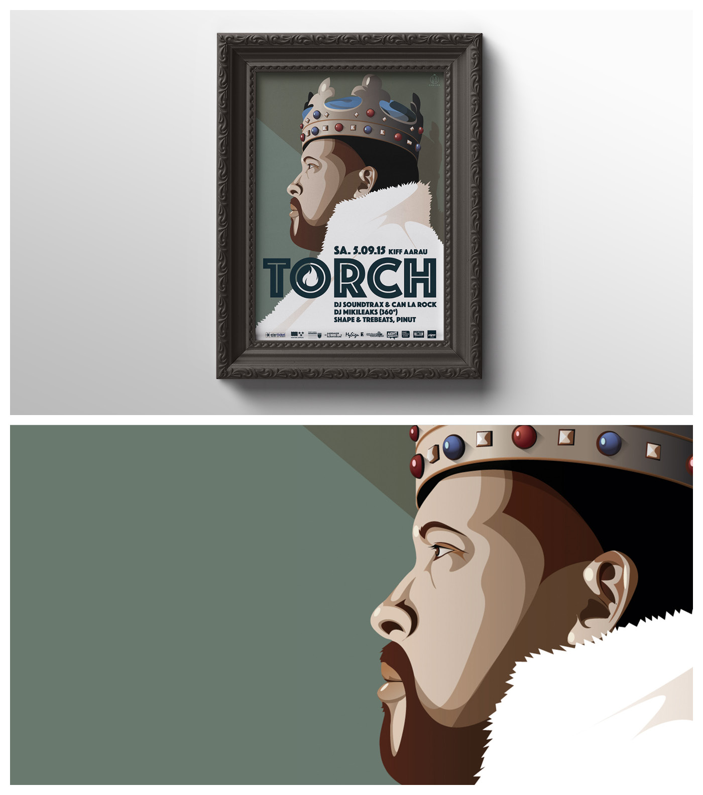poster for torch concert rap german